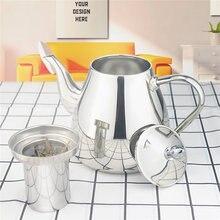 Sanqia TETERA de acero inoxidable con colador de té, Infusor de té, tetera con infusión para inducción