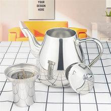 Sanqia théière en acier inoxydable avec passoire à thé, avec infuseur à thé