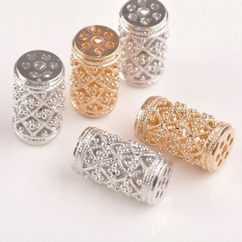 20piece 16x28mm Column Shape Jewelry Spacers Beads Dull Silver and KC Gold