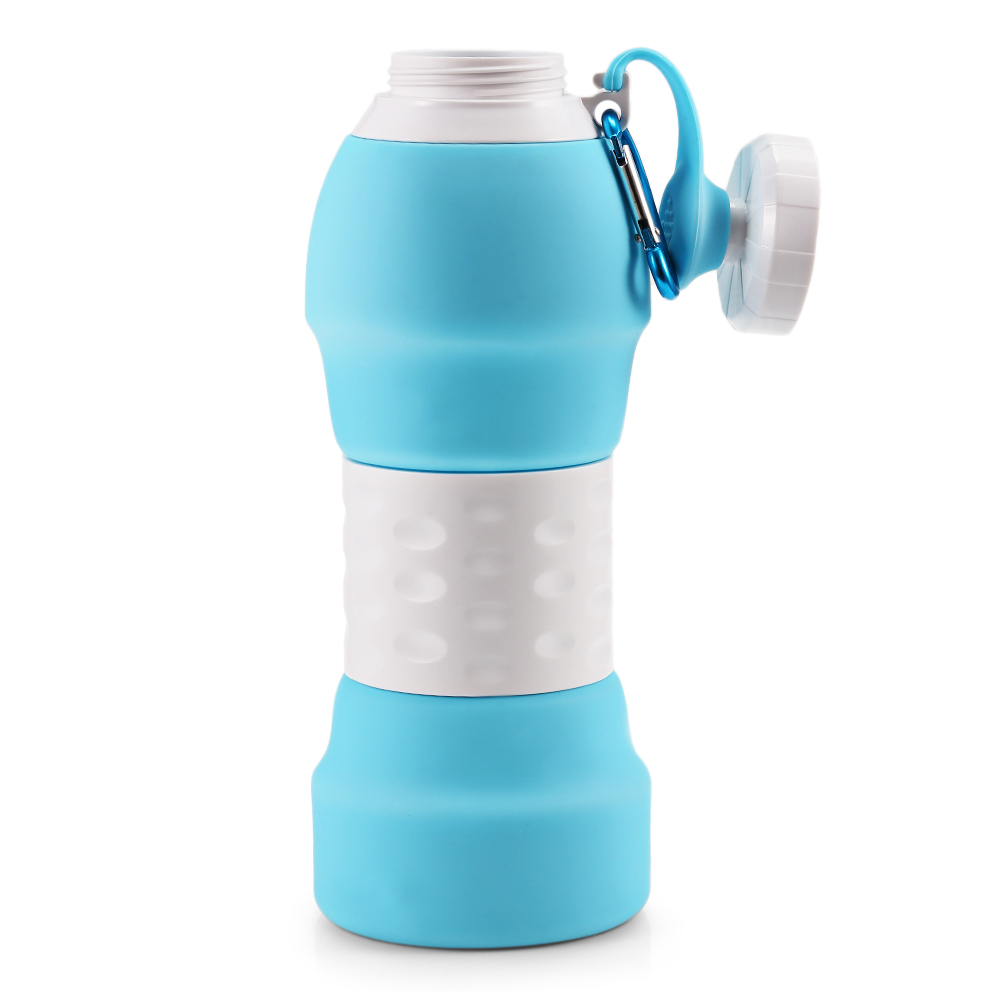 Hc632a5d90f8647e29c50f902214e7ee4M 500ML Portable Silicone Water Bottle Retractable Folding Coffee Bottle Outdoor Travel Drinking Collapsible Sport Drink Kettle