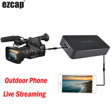 Handy Live Streaming Box Spiel Aufnahme Platte HDMI USB 2,0 Video Capture Card für IPhone IOS OTG Android PS4 XBOX Kamera