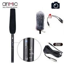 Ulanzi Arimic Professional Shotgun wywiad mikrofon kierunkowy mikrofon pojemnościowy do kamer DSLR DV kamera wideo MIC