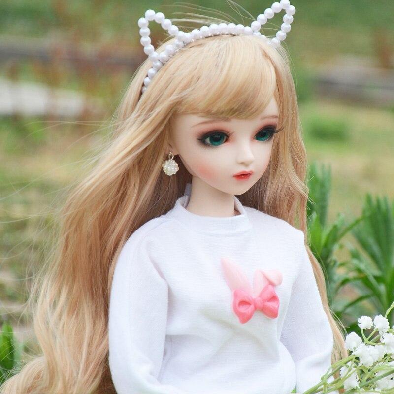 Bjd 1/3 bonecas de menina 18 articulações, corpo móvel, olhos substituíveis, 100% artesanal, silicone, boneca reborn, conjunto completo