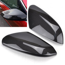 For Honda Civic 2016 2017 2018 Replacement Carbon Fiber Style ABS Rear View Side Door Mirror Wing Cover Rearview Caps