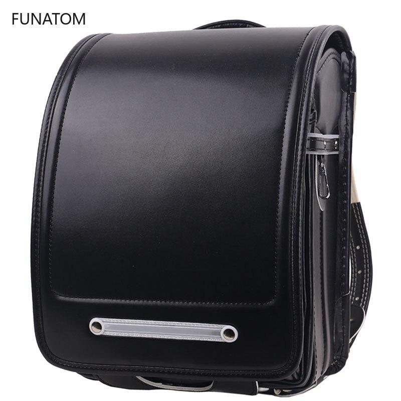 Kid Orthopedic School Bag Children Backpack For Girl And Boys Students Bookbags Japan PU Japanese Randoseru Backpack Hot