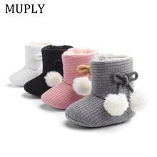Новинка; Очень теплая зимняя обувь для новорожденных девочек;
