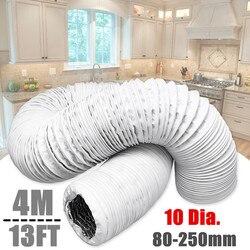 4M Folha De Alumínio Acessórios Para Tubos De Mangueira Mangueiras de Ventilação Exaustor Da Cozinha Ventilador Embutido Duto de Ventilação Tubo De Ventilação de Ar Parte 80 -250 milímetros de Diâmetro