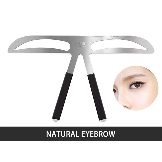 Eyebrow Shaper Makeup Aid Balance Stencil Measure Makeup Tattoo Ruler Template Hot New Make Up New Thrush Tools Convenience