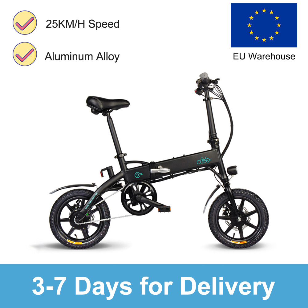 Electric Bike ebike FIIDO D1 electric bikeebike bike Booster Mountain Bicycle Folding Electric Bicycle with Front LED Light|  - title=