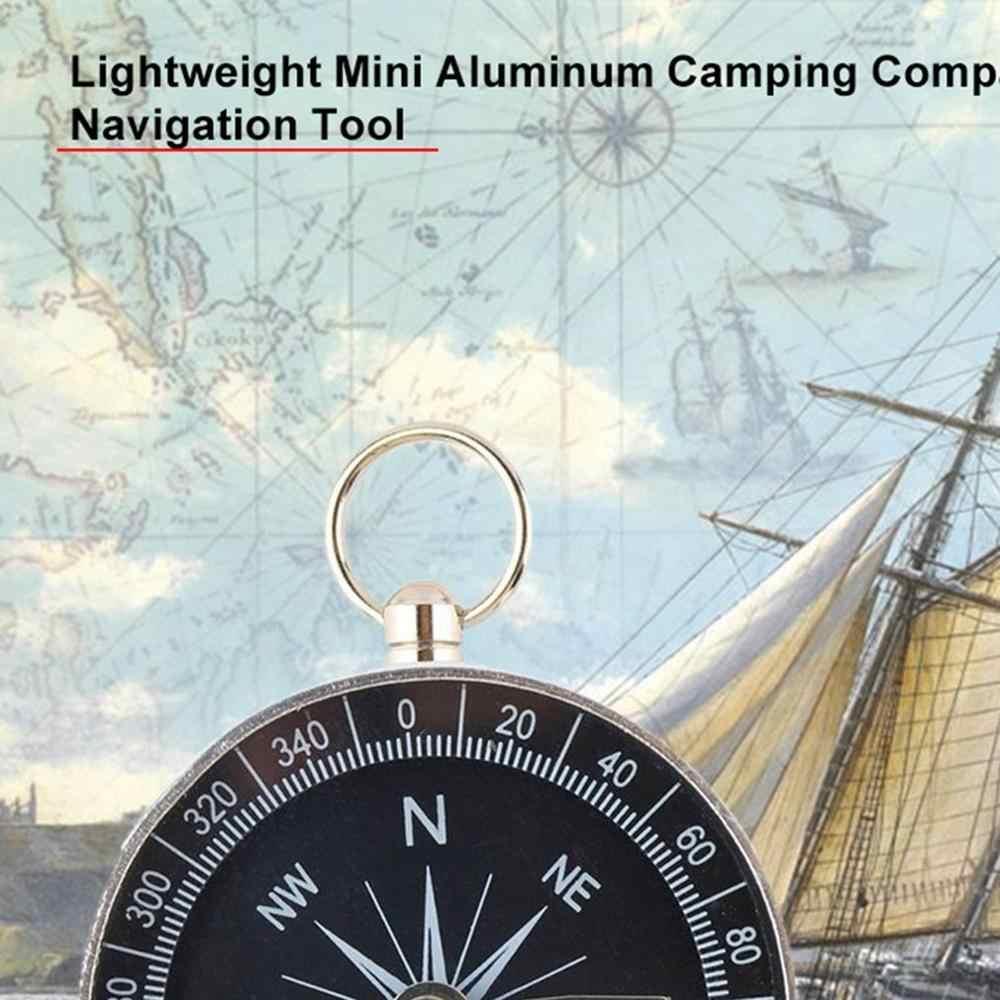 2020 Baru Kantong Mini Camping Hiking Kompas Aluminium Ringan Perjalanan Luar Ruangan Kompas Navigasi Kelangsungan Hidup Liar Alat Hitam