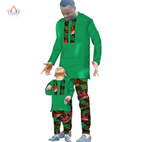 Spring New Fashion Mens African Clothes Two Pieces Set for Men and Boy Set Clothing Long Sleeve Shirt + Pants BRW WYN294