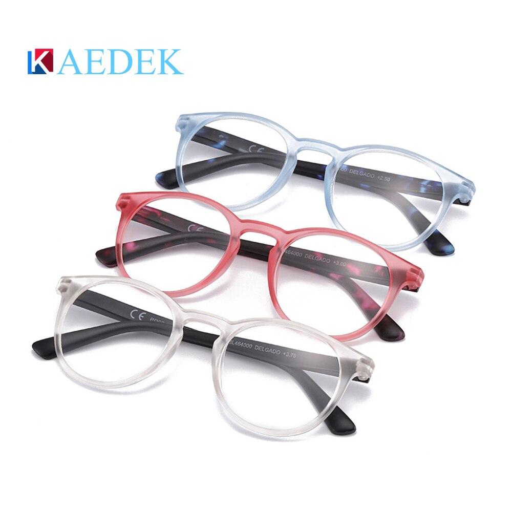 Купить kaedek дешевые очки для чтения женщин и мужчин черные круглые