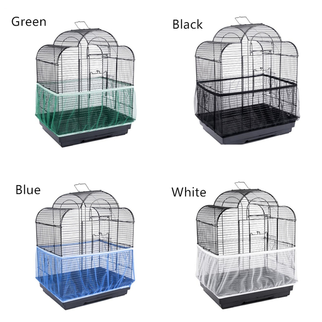 Free Shipping Cage Net New Bird Cage Covers Mesh Catcher Guard Bird Cage Net Shell Skirt Dust-proof Airy Mesh Parrot Cage Cover 2