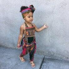 2020 лето мода африканский детский принт полиэстер длинный комбинезон