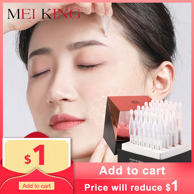 MEIKING Anti-Aging Face Serum Moisturizing Anti-Wrinkle Essence Shrink Pores Whitening Water-Locking Lift Firming Face Care 5pcs