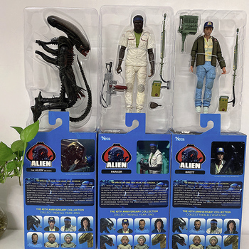 NECA-figura de acción de Alien de 40. ° aniversario, 3 unids/set, figura...
