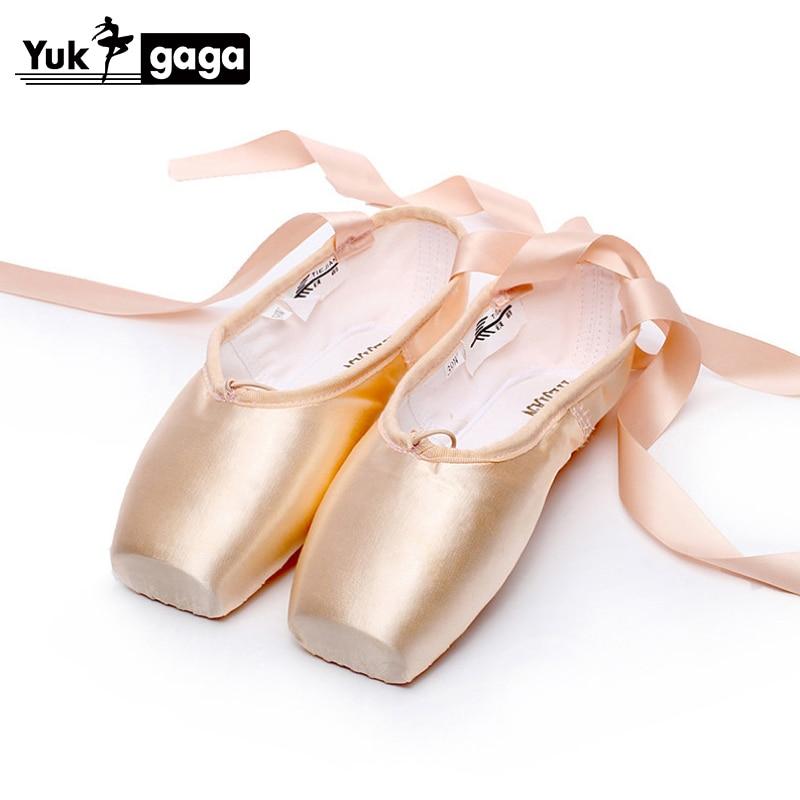 Pink Ballet Dance Toe shoes Professional Ladies children Satin Pointe Shoes Hot