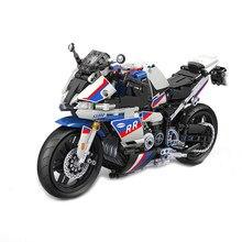 Kazanan 7054 MOC 819 adet statik parça motosiklet 1:6 modeli monte yapı taşı tuğla DIY oyuncaklar çocuklar için doğum günü hediyesi