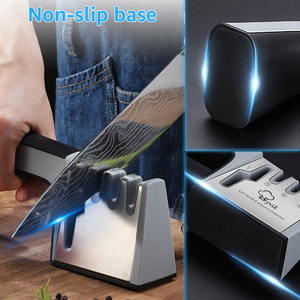 Image 5 - Knife Sharpener 4 in 1 Diamond Coated&Fine Rod Knife Shears and Scissors Sharpening stone System Stainless Steel Blades