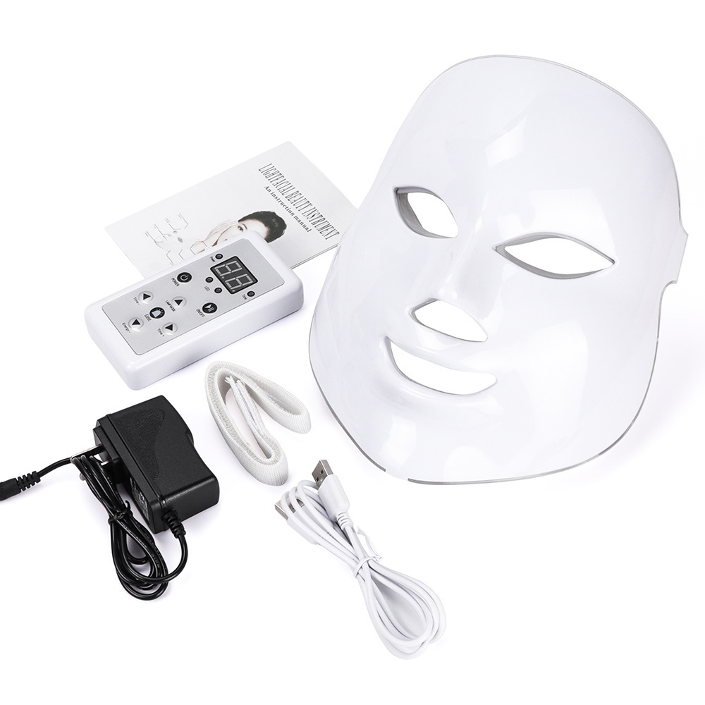 Korean 7 Colors LED Facial Mask Face Mask Skin Care Beauty Mask Photon Therapy Light Skin Rejuvenation Facial PDT Instrument
