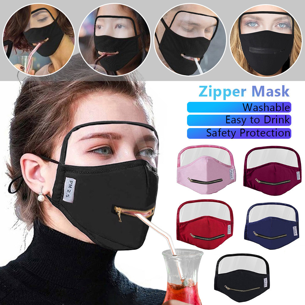 Person - Adult Cotton Zipper Opening Design Outdoor Protective Face Shield With Eyes Shield Face Shield Fashion Dropshipping Scarf
