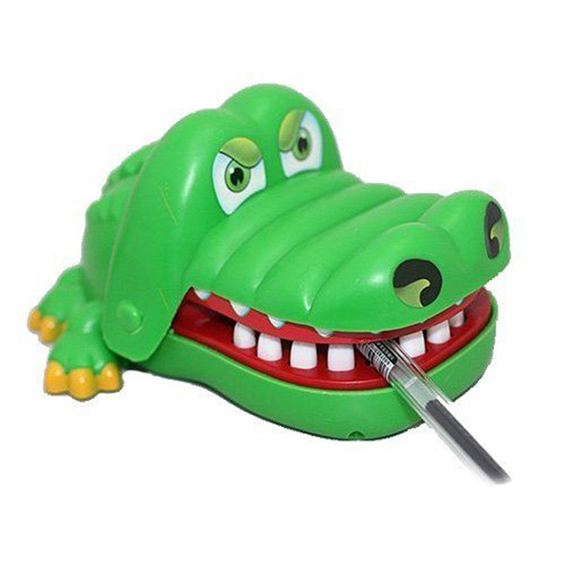 Popular Creative Chidlren Kid Crocodile Mouth Dentist Bite Finger Game Funny Gags Toy