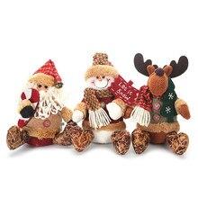 Милые новогодние куклы, рождественские украшения для дома, Рождественская елка, подвесные плюшевые куклы Snata, вечерние украшения, подарки для детей