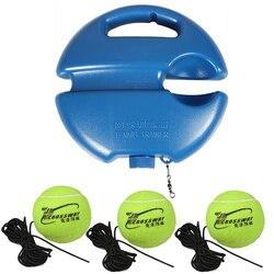 Ferramenta resistente das ajudas do treinamento do tênis com corda elástica 3 bolas prática auto-dever rebote tennis trainer parceiro sparring dispositivo