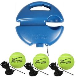Herramienta de entrenamiento de tenis de alta resistencia con cuerda elástica, 3 bolas de práctica, dispositivo de entrenamiento de tenis de rebote automático