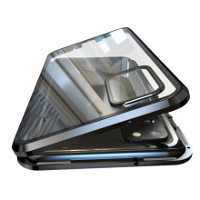Luxury Magnetic Adsorption Back Cover for Samsung Galaxy S20 Ultra S20 Plus Tempered Glass Built in Magnet Metal Bumper Case