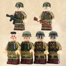 WW2 Soldiers USA 82ST Military Figures Building Blocks US Army 101 Airborne Division Guns Weapons Accessories Kits Bricks Toys
