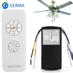 GERMA Universal Ceiling Fan Lamp Remote Control Kit AC 110-240V Timing Control Switch Adjusted Wind Speed Transmitter Receiver(China)