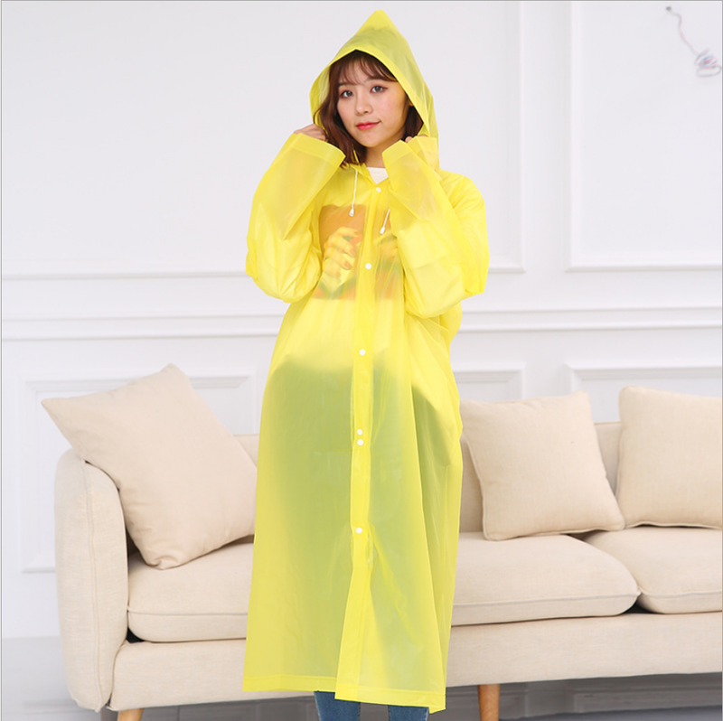 Di modo di EVA Donne Impermeabile Ispessito Impermeabile Cappotto di Pioggia Donne Sereno Trasparente di Campeggio Impermeabile Impermeabili Vestito