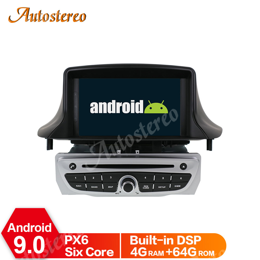 <font><b>Android</b></font> 9 PX5/6 DSP Car DVD Player For Renault <font><b>Megane</b></font> <font><b>3</b></font>/Renault Fluence 2009+ Stereo Headunit GPS Navigation Radio Tape Recorder image