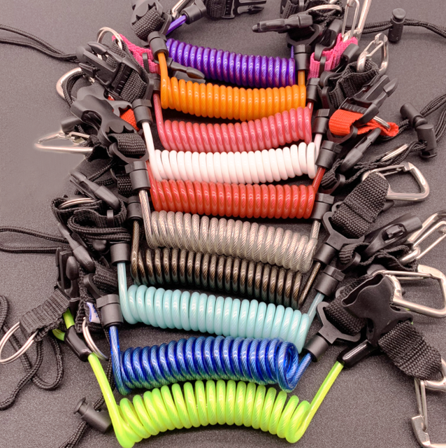 Details about  /PSCCO Scuba Diving Camera Anti-Lost Lanyard Strap Loss Proof Spring Coil Rope...