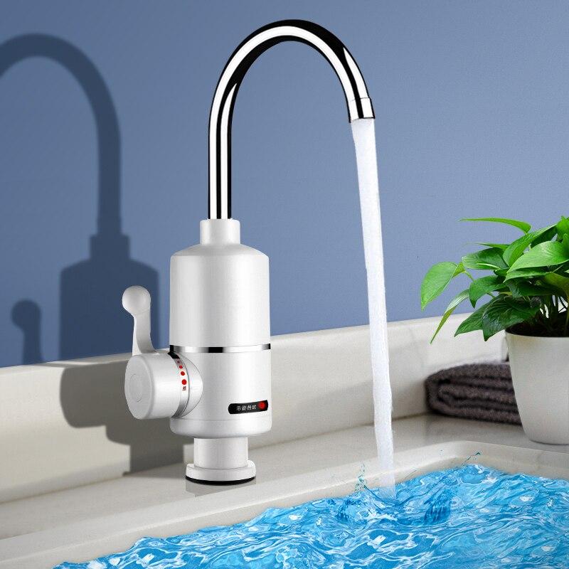 Chauffe-eau électrique, cuisine sans réservoir, chauffe-eau chaud instantané, chauffe-eau électrique, robinet chauffant 220v 3000W