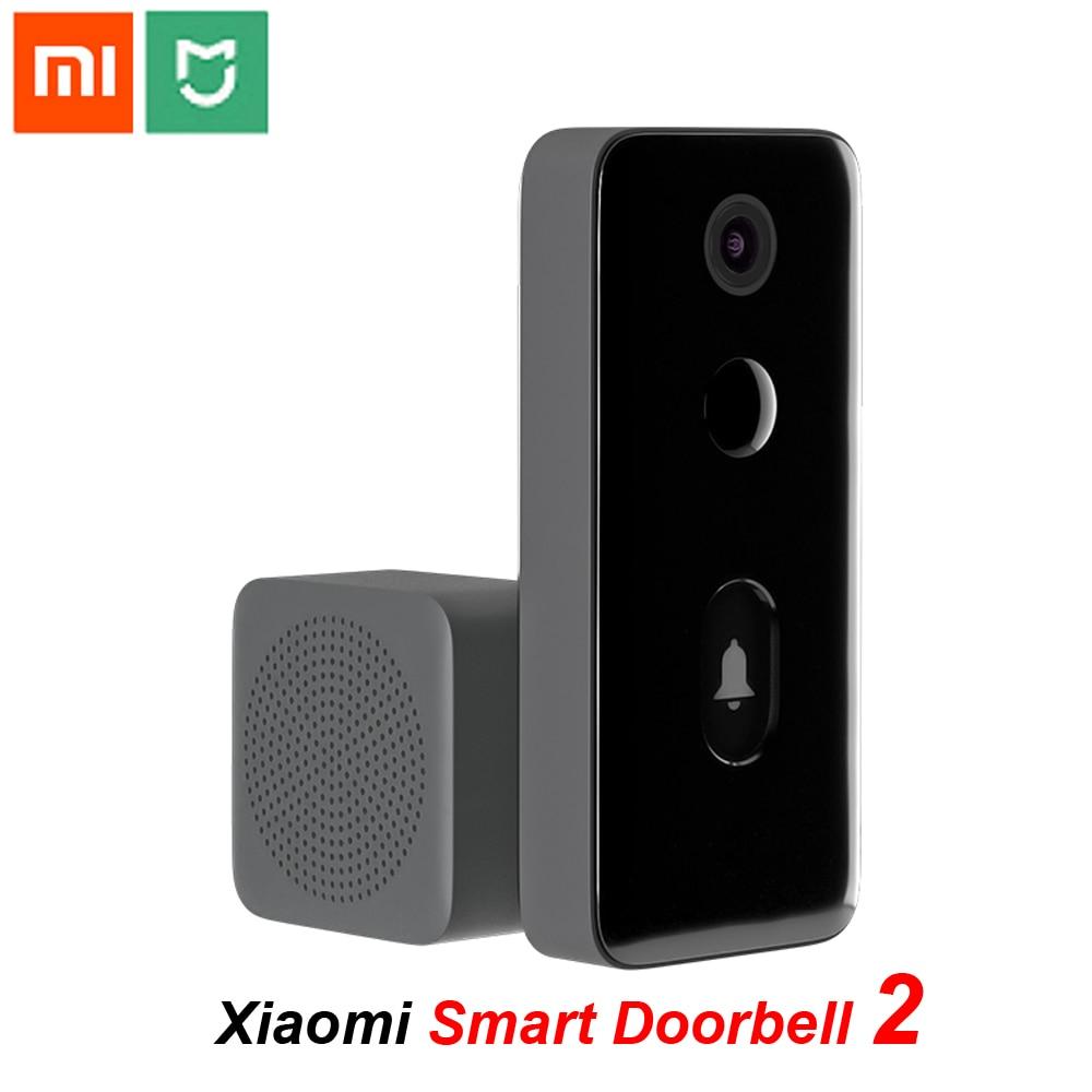 Умный видеодомофон Xiaomi Mijia 2, беспроводной дверной звонок с Wi-Fi, с ИК-подсветкой, ночным видением, с обнаружением движения