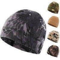 Winter Warme Fleece Wandern Caps, Winddicht Thermische Hut für Radfahren Jagd, Männer Frauen Tactical Kappen, outdoor Camflouge Sport Caps