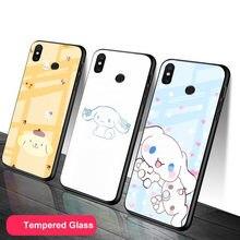 Fofos para vidro temperado celular caso de telefone para redmi nota 5 6 7 8 9 pro note8t note9s redmi8 9 capa escudo