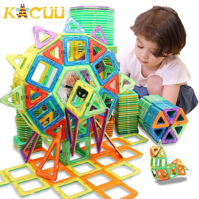 100-298 adet blokları manyetik tasarımcı inşaat seti modeli ve bina oyuncak plastik manyetik bloklar eğitici oyuncaklar çocuklar için hediye