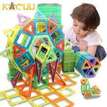 100 298pcs bloki zestaw Magnetic Designer Construction Model i zabawki do budowania plastikowe bloki magnetyczne zabawki edukacyjne dla dzieci prezent