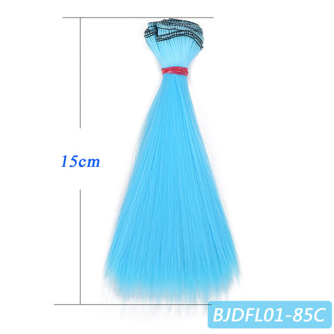 Bybrana 15cm*100cm and 25cm*100cm Long straight High Temperature Fiber BJD SD Wigs DIY hair for dolls Free shipping Multan