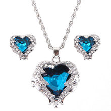 Wedding Heart Necklaces Earrings For Women Fashion Jewelry Sets Necklaces with Earrings Wedding Jewellery Brincos 2019