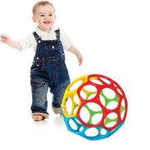Macio colorido bola brinquedos mão sino chocalho desenvolver brinquedos toque mordida pego mão oball bola para o bebê aprendizagem agarrar presente do miúdo