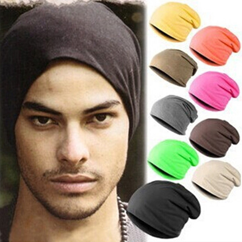 Women Linen Knitting Hats Unisex Solid Simple Caps Winter Warm Keeping Cap Three With Candy Color Pile Headgear Knit Hip-Hop Hat