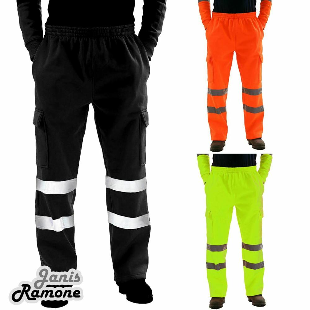 2019 New Warm Fashion Men Road Work High Visibility Overalls Casual Pocket Work Casual Trouser Pants Autumn Tops 18NOV28