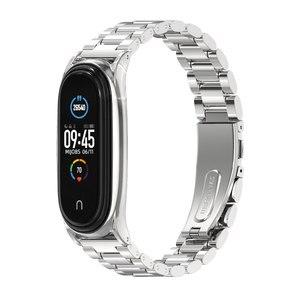 Image 2 - Mi Band 5 Strap Bracelet Wristband for Xiaomi Band Correa Pulseira Opaska Miband 4 Xiomi My Band Strap 3 4 5 Xiami Metal Global
