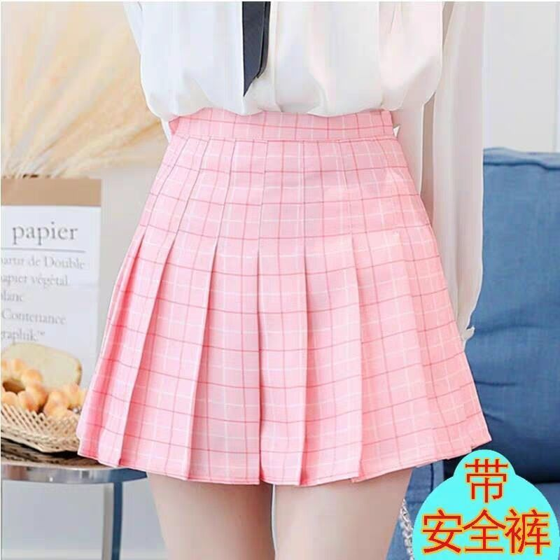 JK Plaid Pleated Skirt Girly Sexy Short Skirt Korean Style Spring Summer Skirt High Waist Short Skirt Women 2020 Hot Sale A030 6