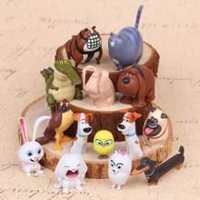 14 pçs/set Duque bola de Neve Coelho Cão Gatos Aves Animais De Estimação Brinquedo Figuras Acton