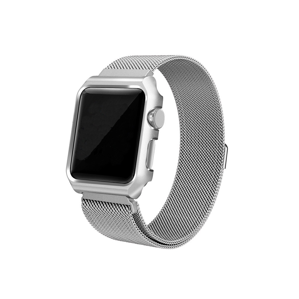 Strap for Apple Watch 42mm One Body Milanese Loop Metal silver image
